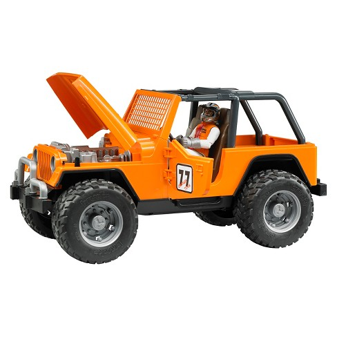 Bruder Jeep Cross Country Racer Orange With Driver All