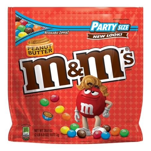 M&M's Party Size Peanut Butter Chocolate Candies - 38oz - image 1 of 6