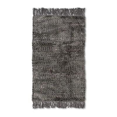 20 x32  Chenille Bath Rug Radiant Gray - Threshold™