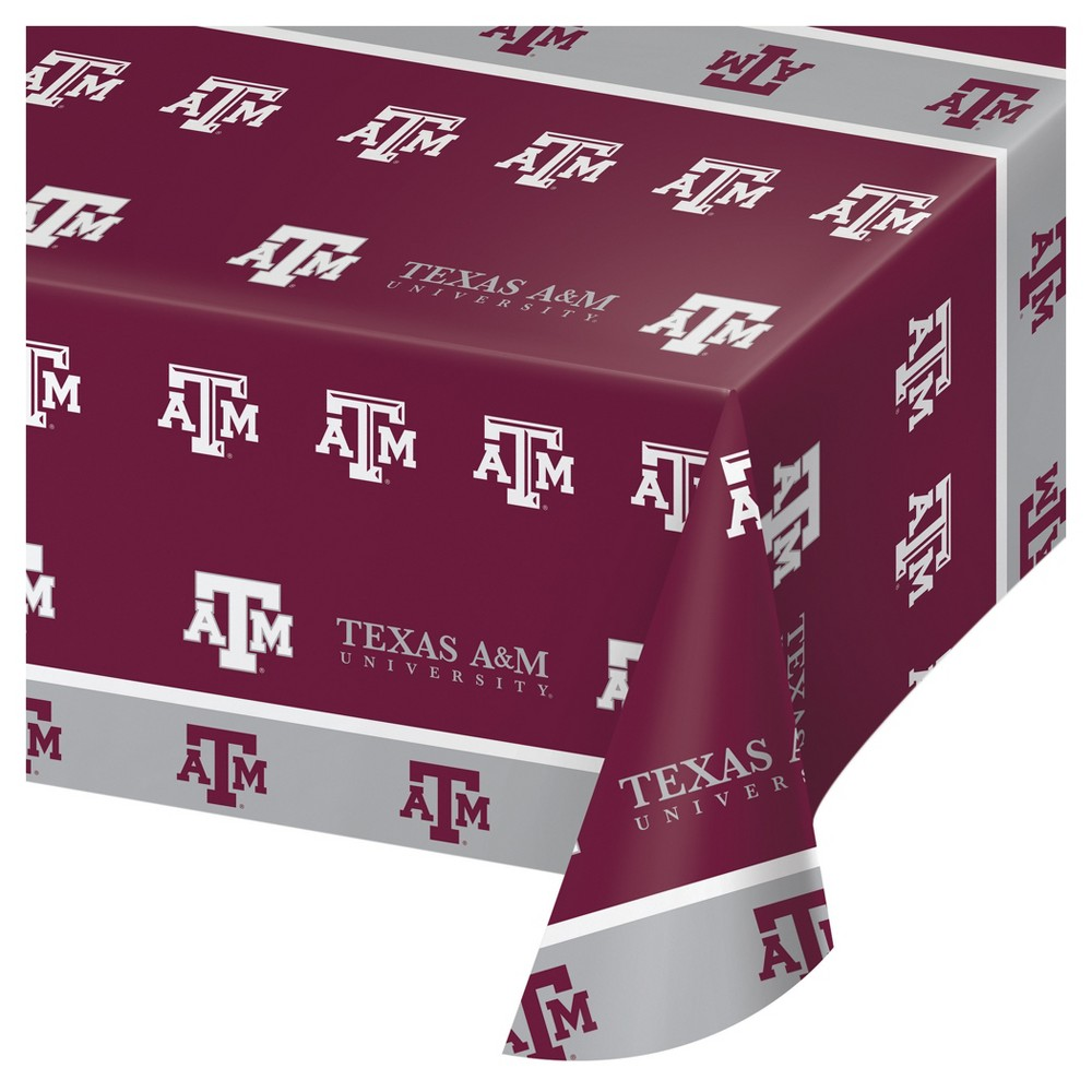 Image of Texas A&M Aggies Plastic Tablecloth