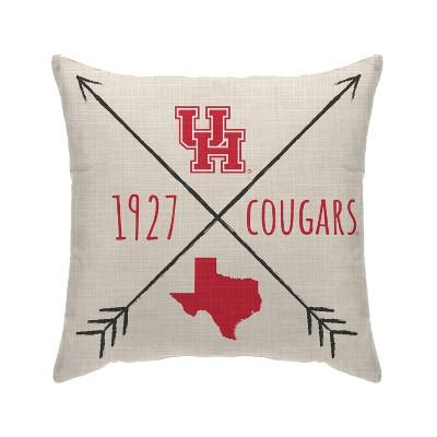 NCAA Houston Cougars Cross Arrow Decorative Throw Pillow
