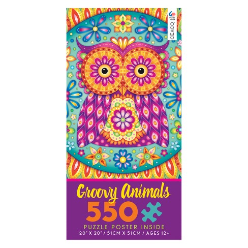 Ceaco 550Pc Groovy Owl Mandala Jigsaw Puzzle - image 1 of 1