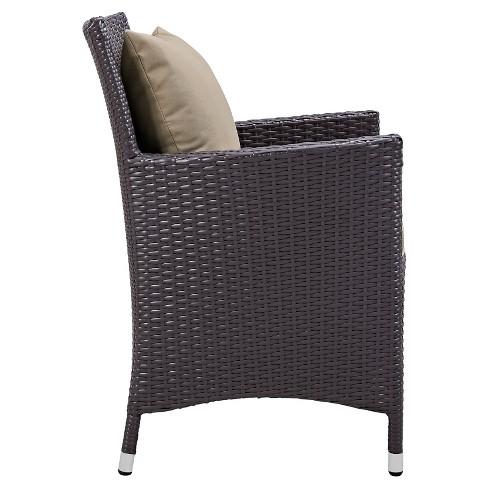Astounding Convene Dining Outdoor Patio Armchair In Espresso Mocha Modway Uwap Interior Chair Design Uwaporg