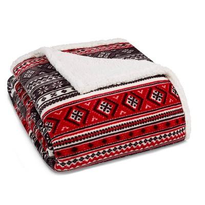 Patterned Plush Bed Blanket - Eddie Bauer
