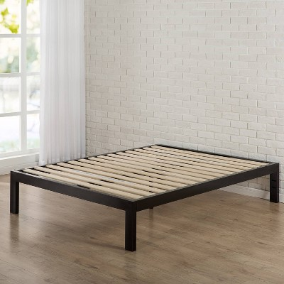 "14"" Lorrick Quick Snap Platform Bed Frame Black - Zinus"
