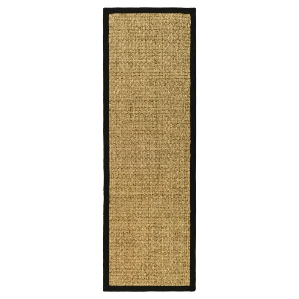 Natural Fiber Rug - Natural/Black - (2'6x14') - Safavieh
