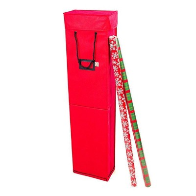 TreeKeeper Wrapping Paper Storage Box Red