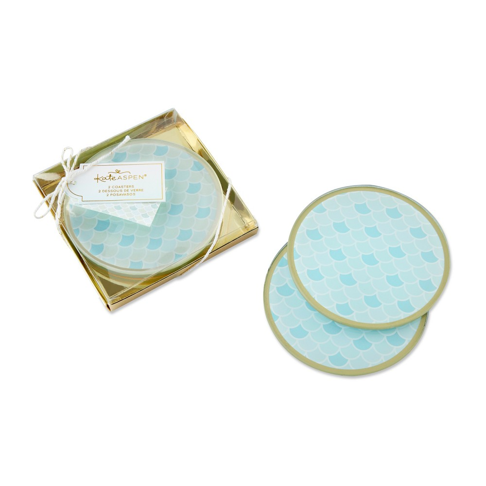 Image of 6ct Seaside Escape Glass Coaster