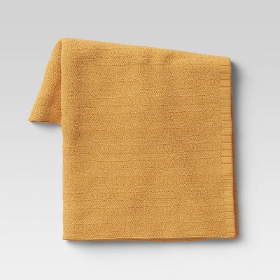 Striped Chenille Knit Throw Blanket - Threshold™