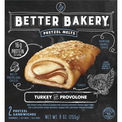 Better Bakery Turkey Provolone Frozen Pretzel Melts - 9oz