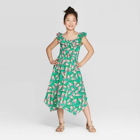 11ff1a4ea4 Girls' Butterfly Knit Maxi Dress - Cat & Jack™ Green : Target
