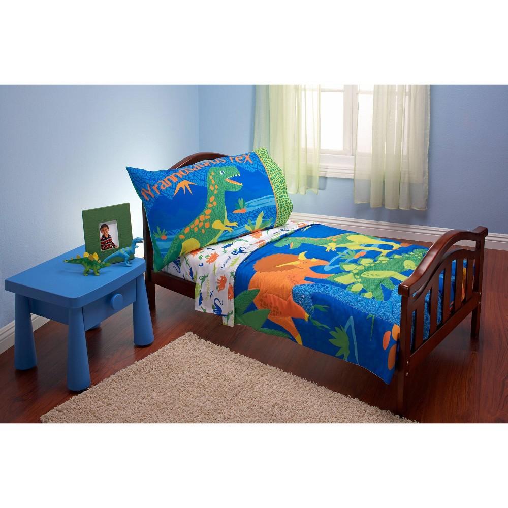 Image of NoJo 4pc Everything Kids Dinosaur Toddler Bedding Set