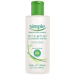 Unscented Simple Micellar Cleansing Water - 6.7oz