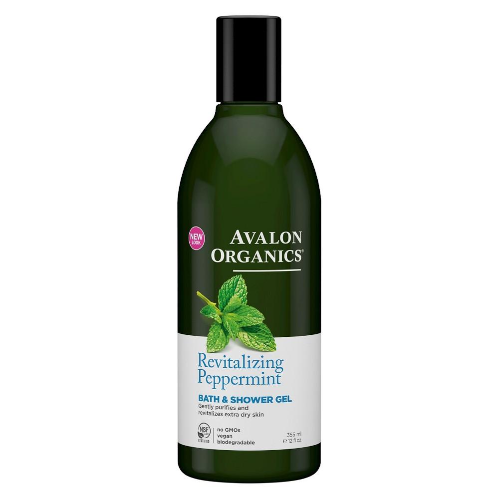 Avalon Organics Revitalizing Peppermint Shower Gel - 12floz
