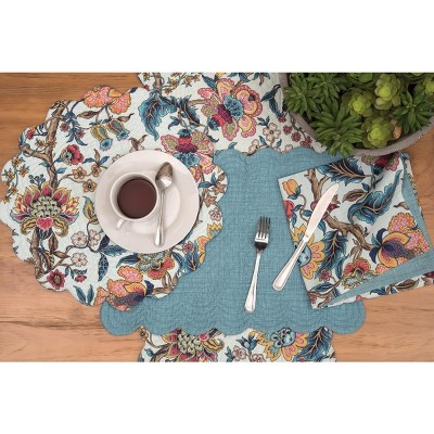 C&F Home Tansy Cotton Quilted Round Reversible Placemat Set of 6
