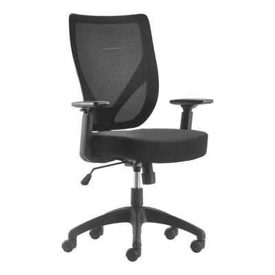 Works Ergonomic Mesh Office Chair with Nylon Base Black - Serta