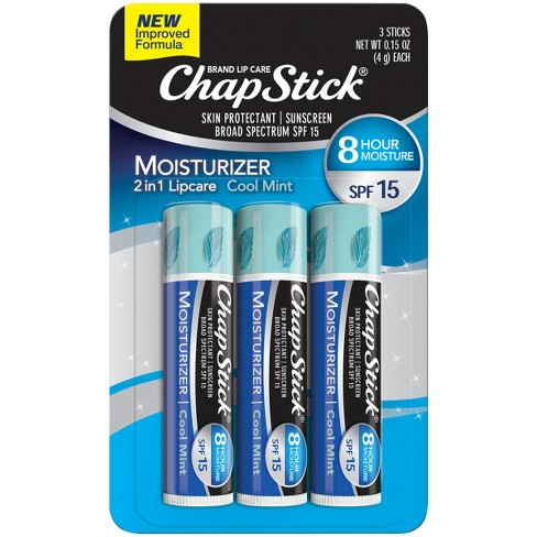 Chapstick Moisturizer Lip Balm - Cool Mint with SPF 15 - 3ct - image 1 of 4