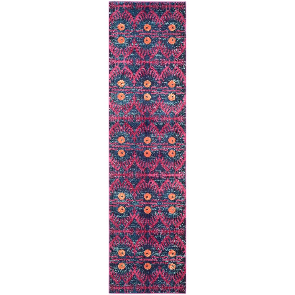 2'3X12' Loomed Tribal Design Runner Rug Pink - Safavieh