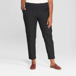 Women's Plus Size Ankle Pants With Comfort Waistband - Ava & Viv™