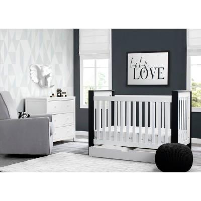 Delta Children Miles 4-in-1 Convertible Crib Under Crib Roll-Out Storage