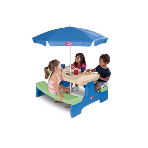 a8b37034080 Little Tikes Easy Store Jr. Play Table With Umbrella   Target
