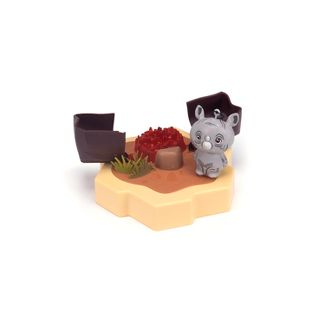 HEXBUG Lil' Nature Babies Black Rhino Small Playset