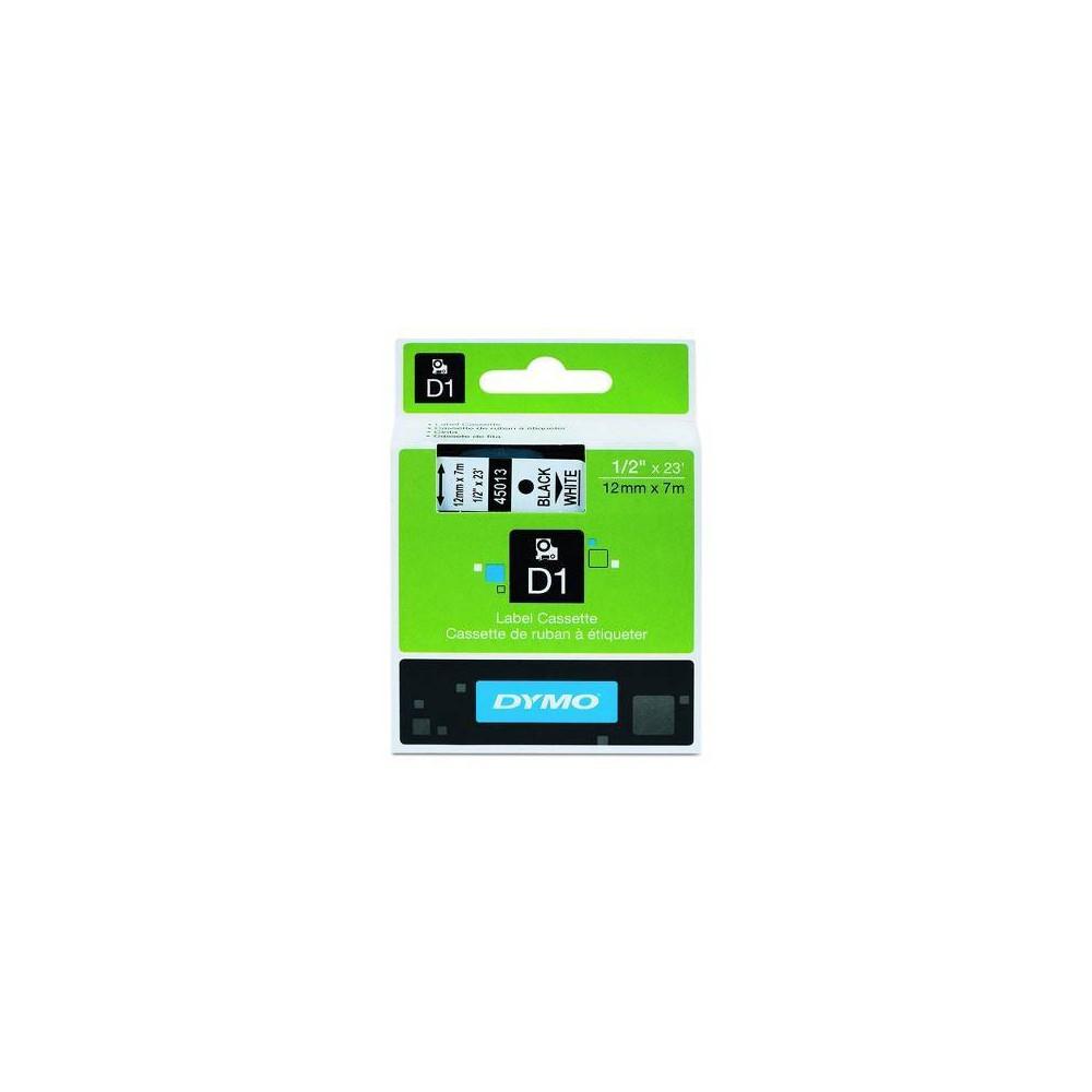 Dymo D1 Label Cassette, .5 x 23', White