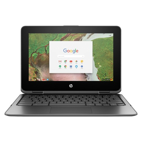 "HP X360 Convertible Touchscreen Chromebook 11-AE027NR 11.6"" Laptop Cloudy Gray - image 1 of 9"