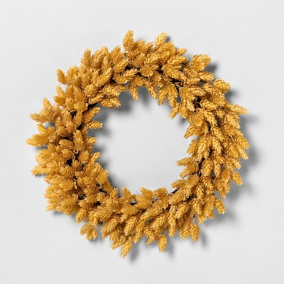 """20"""" Faux Yellow Hops Wreath - Hearth & Hand™ with Magnolia"""