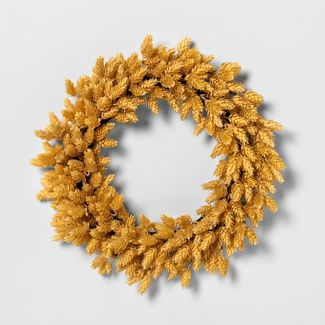 "20"" Faux Yellow Hops Wreath - Hearth & Hand™ with Magnolia"