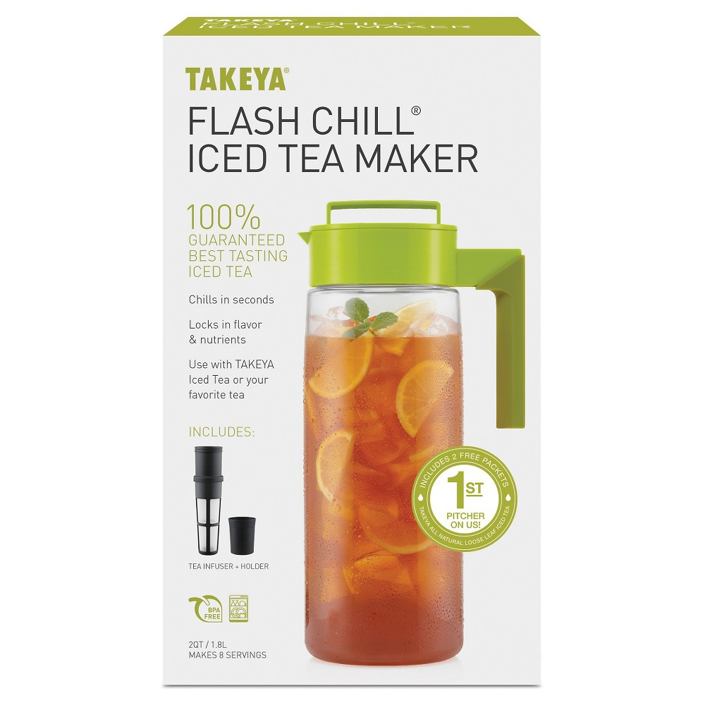 Takeya Flash Chill Iced Tea Maker-Avocado (2Qt), Green 21483125