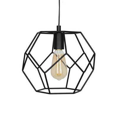 "9.75"" Metal Swag Pendant Ceiling Light (Bulb Included) Black - Cresswell Lighting"