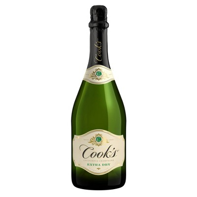 Cook's California Champagne Extra Dry White Sparkling Wine - 750ml Bottle