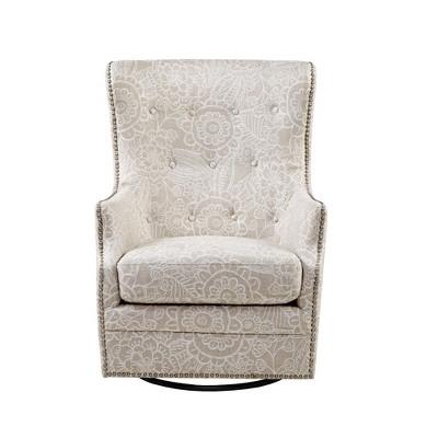 Alyce Swivel Glider Chair Cream