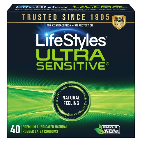 LifeStyles Ultra Sensitive Lubricated Latex Condoms - 40ct - image 1 of 4