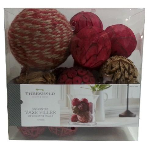 Red Natural Decorative Vase Filler Balls Threshold Target