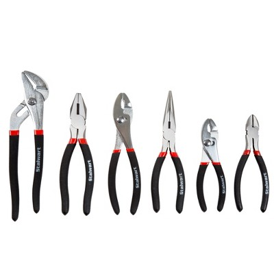 6pc Pliers Set with Carrying Case Clear - Stalwart
