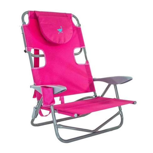 Sensational Ostrich On Your Back Outdoor Lounge 5 Position Reclining Beach Lake Chair Pink Caraccident5 Cool Chair Designs And Ideas Caraccident5Info