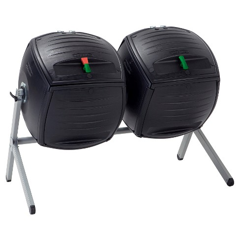 Two 50 Gallon Dual Compost Tumbler s - Black - Lifetime - image 1 of 4