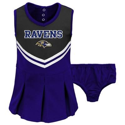 NFL Baltimore Ravens Toddler Girls' In the Spirit Cheer Set
