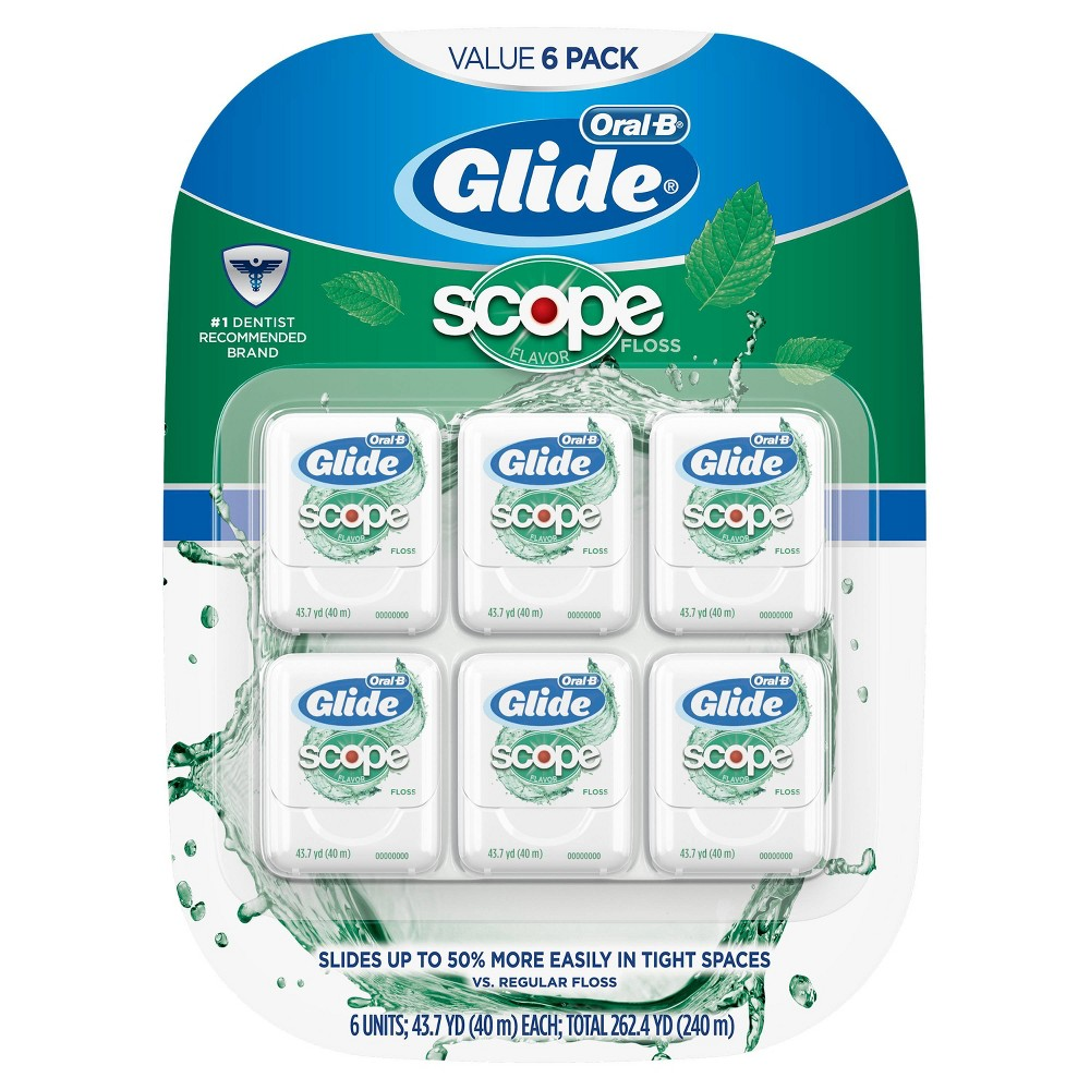 Image of Oral-B Glide Floss with Scope Flavor - 40m/6pk