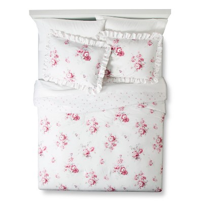 Sunbleached Floral Comforter Set (King)Pink 3pc - Simply Shabby Chic™