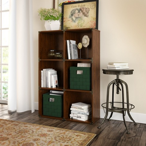 Kathy Ireland Office Ironworks 6 Cube File Cabinet Bookcase Coastal