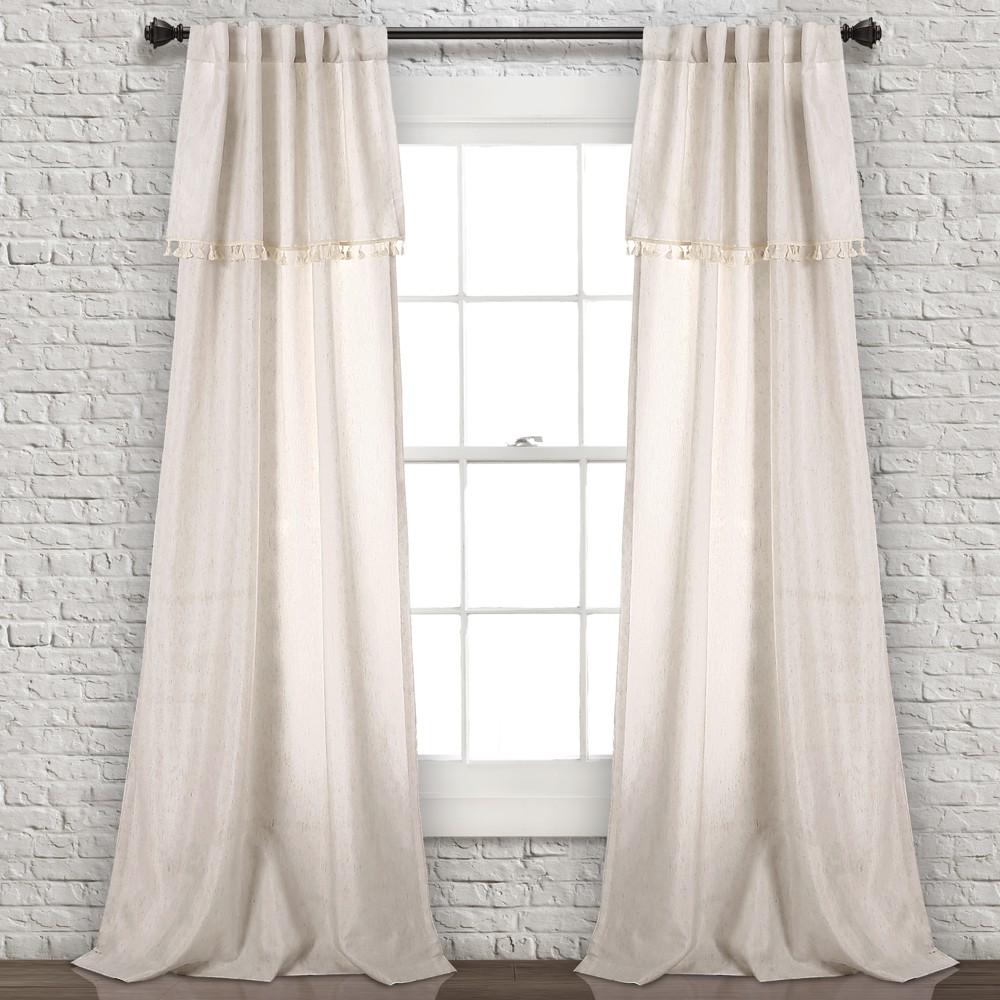 Ivy Tassel Window Curtain Panels Neutral 40