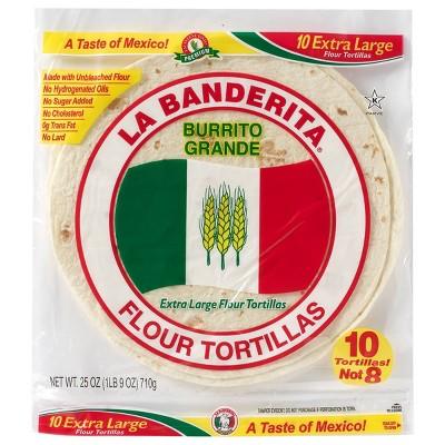 La Banderita Burrito Grande Extra Large Flour Tortillas - 25oz/10ct