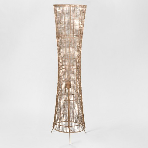 Natural Woven Ambient Floor Lamp Natural (Includes Energy Efficient Light Bulb) - Project 62™ + Leanne Ford - image 1 of 3