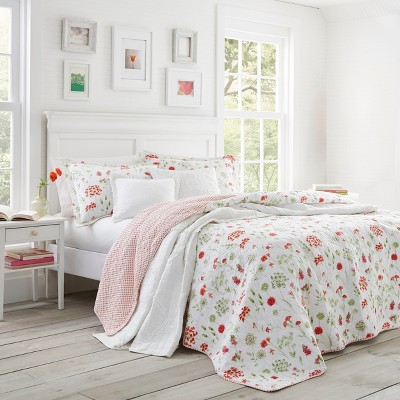 King Libby Quilt Set Red - Laura Ashley