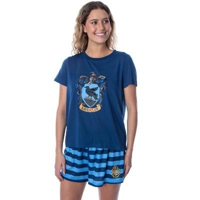 Harry Potter Women's Hogwarts Castle Shirt and Shorts Pajama Set - All 4 Houses