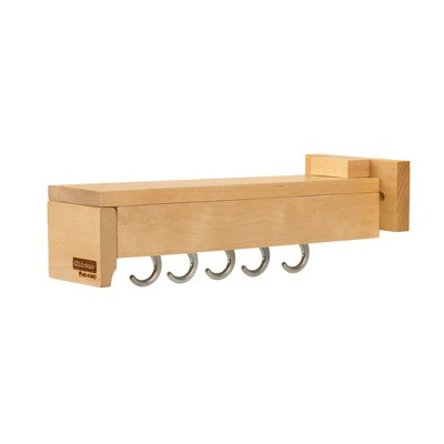 Rev-A-Shelf GLD-W14-SC-5 Pull Out Kitchen Cabinet Pantry Organizer Hanging Hooks with Ball Bearing Slide System, Maple Wood