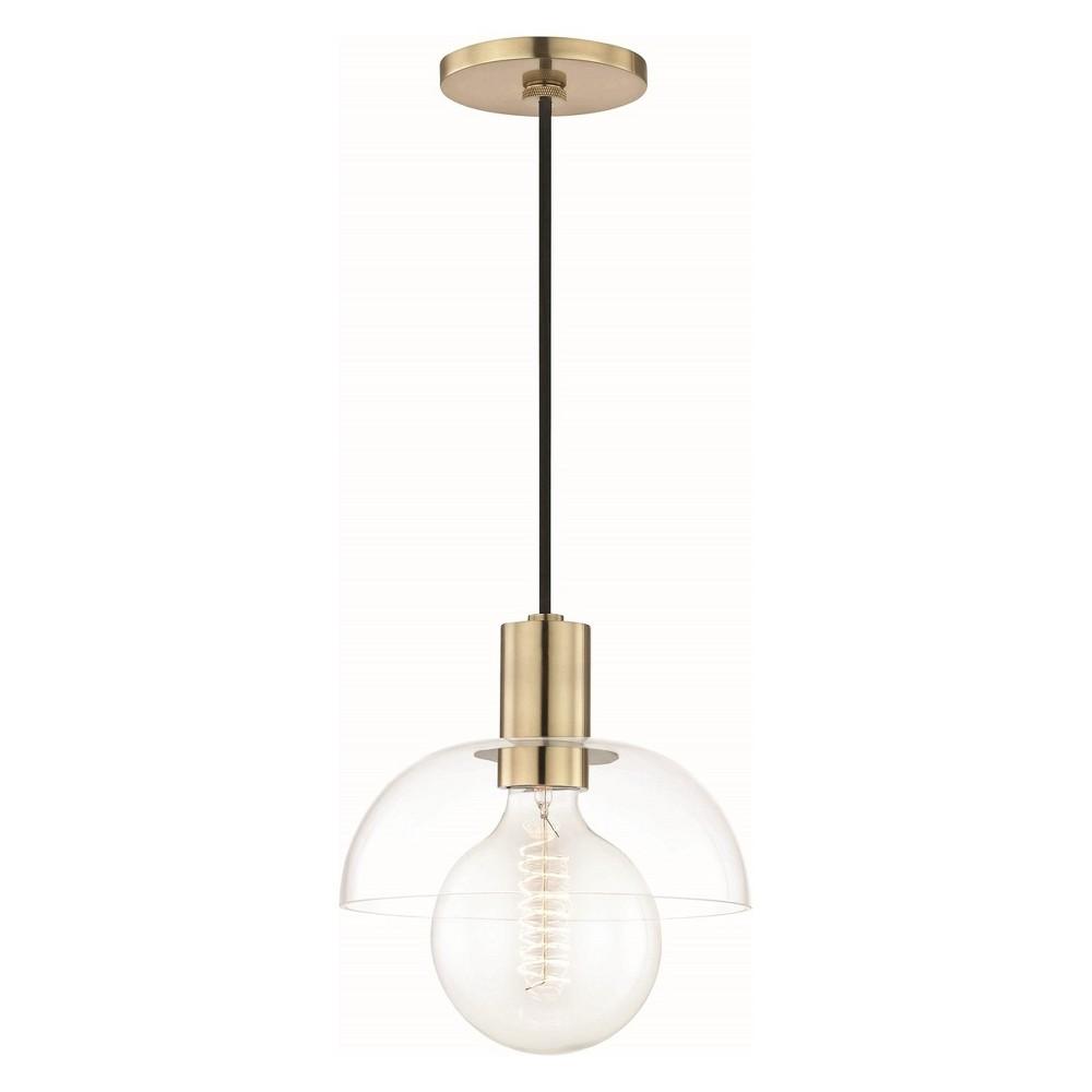 1pc Kyla Light Pendant Brass - Mitzi by Hudson Valley